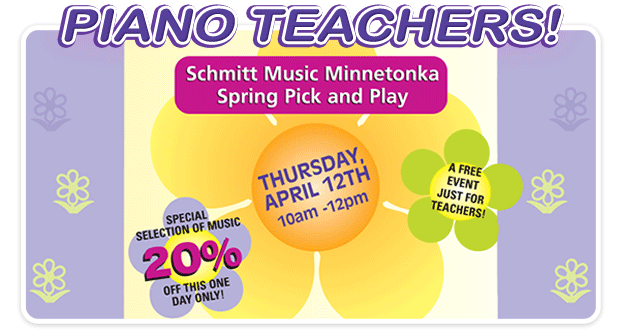 Spring Pick & Play event for teachers at Schmitt Music Minnetonka