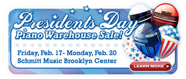 Huge Piano Warehouse Sale this weekend at Schmitt Music Brooklyn Center!