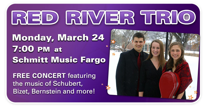 Red River Trio to perform at Schmitt Music Fargo!