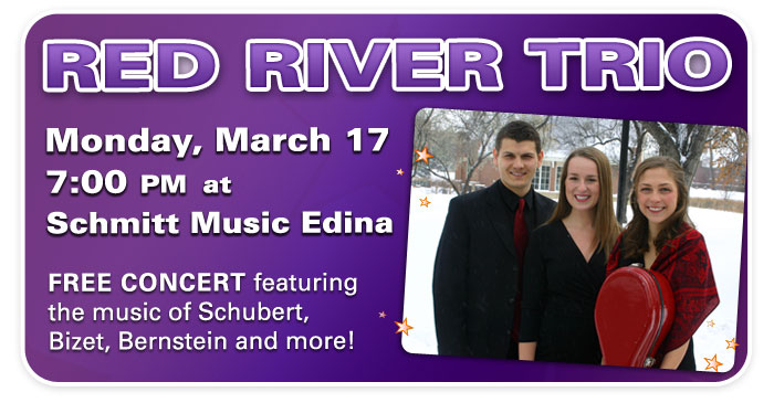 Red River Trio to perform at Schmitt Music Edina!