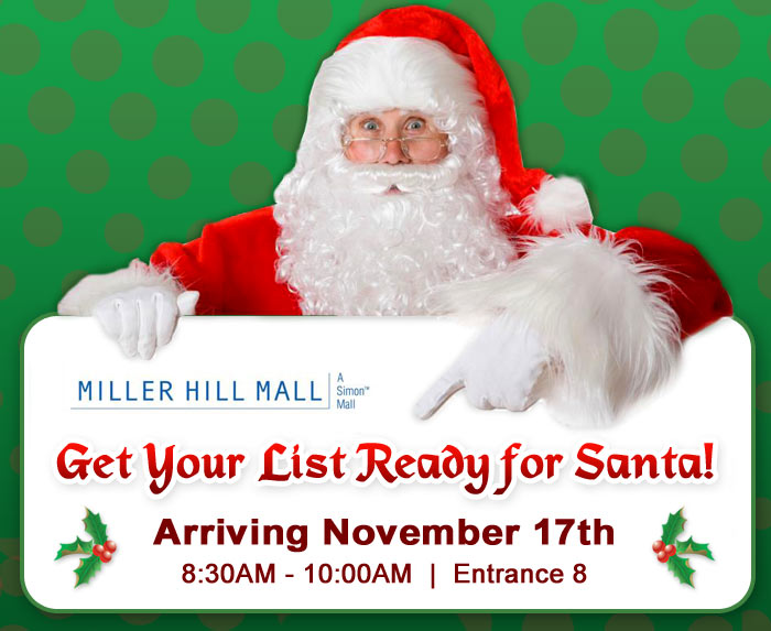 Santa Comes to Miller Hill Mall and Schmitt Music Duluth!