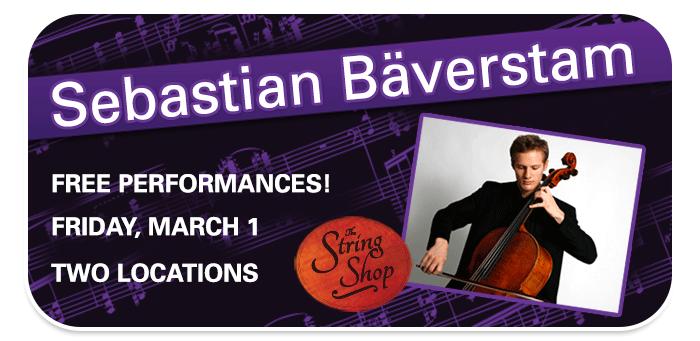 Cellist Sebastian Bäverstam In-Store Performances