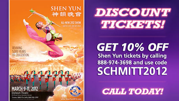 Save 10% on Shen Yun Tickets!