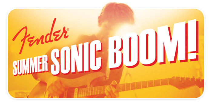 "Fender ""Summer Sonic Boom!"" Instant Rebates at Schmitt Music!"