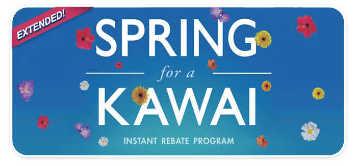Spring for a Kawai Instant Rebates are EXTENDED!  Get up to $1000 BACK!