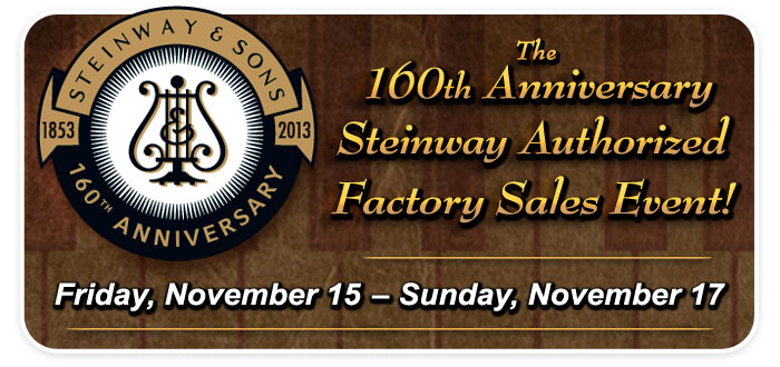 Steinway 160th Anniversary Piano Selection Event at Schmitt Music Kansas City!