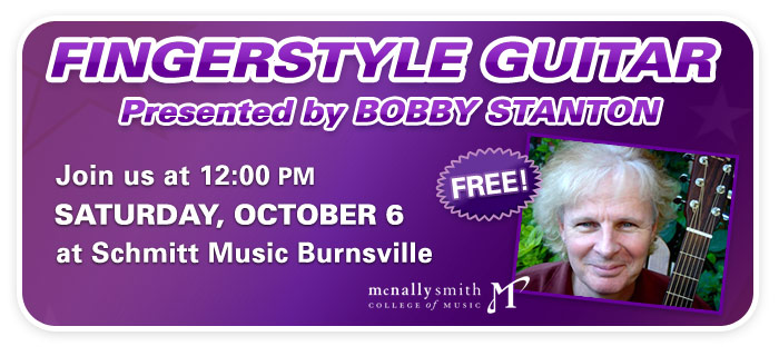 Fingerstyle Guitar Clinic with Bobby Stanton at Schmitt Music Burnsville