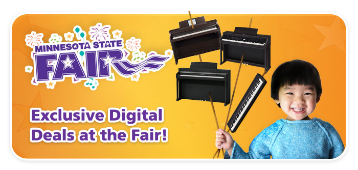 Minnesota State Fair Digital Piano Deals, Roland TD-1K Electronic Drum Kit Giveaway!