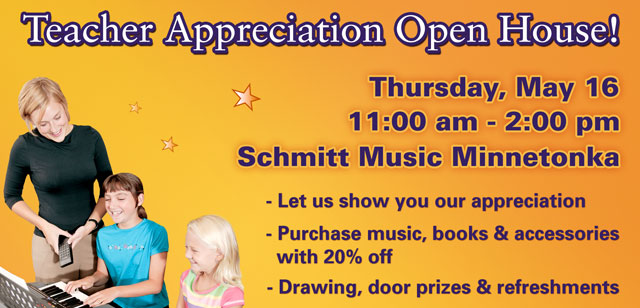 Teacher Appreciation Open House at Schmitt Music Minnetonka