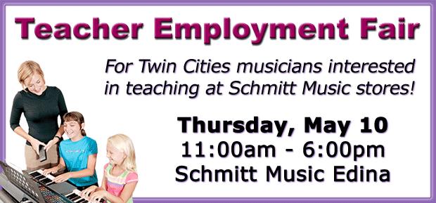 Music Teacher Employment Fair at Schmitt Music Edina