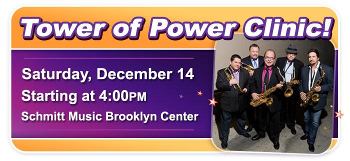 Tower of Power Horn Clinic at Schmitt Music Brooklyn Center