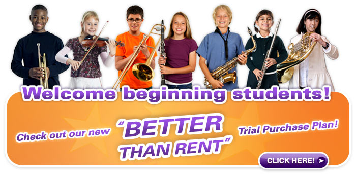 Need to Rent a School Band or Orchestra Instrument?  We've got your solution!