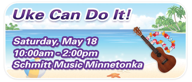 """Uke Can Do It"" & Ukulele Group Class at Schmitt Music Minnetonka"
