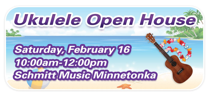 Ukulele Open House & Group Class at Schmitt Music Minnetonka