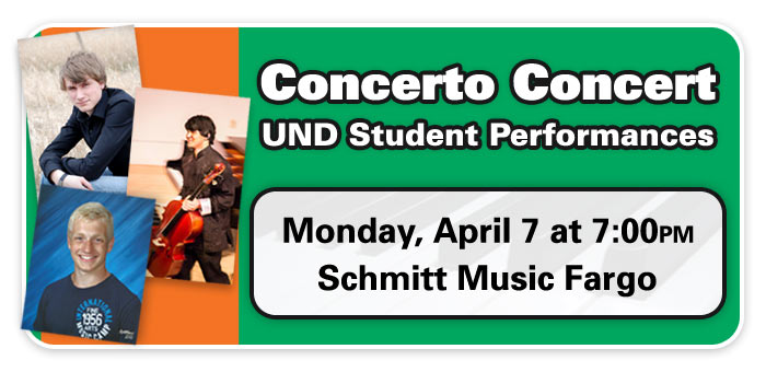 UND Student Concerto Performances at Schmitt Music Fargo!