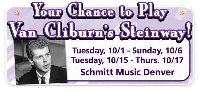 Play Van Cliburn's Steinway and see the Steinway Construction Tour now at Schmitt Music Denver!