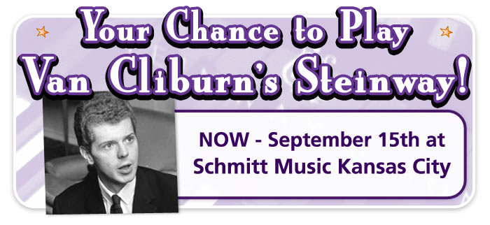 Play Van Cliburn's Steinway and see the Steinway Construction Tour now at Schmitt Music Kansas City!