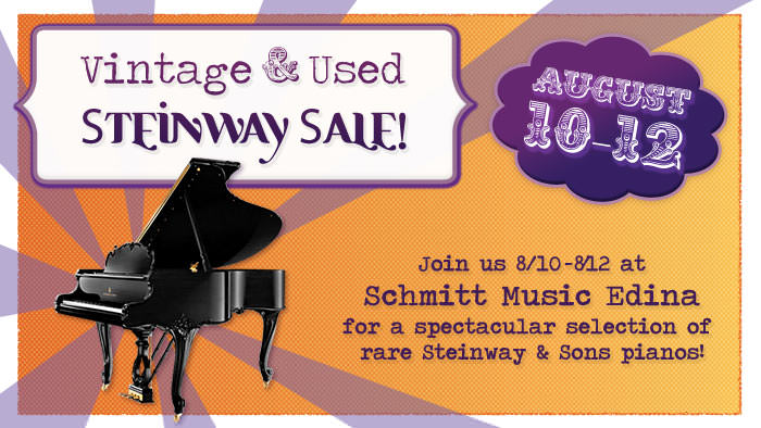 Vintage & Used Steinway Piano Sale at Schmitt Music Edina!