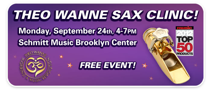 Theo Wanne Sax Mouthpiece Clinic at Schmitt Music Brooklyn Center!