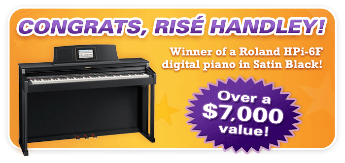Congrats to the Winner of our Roland Days Digital Piano Giveaway!