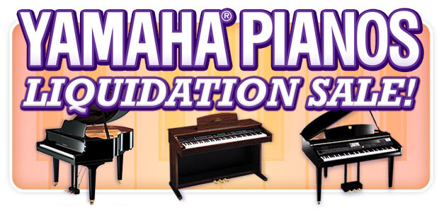All Yamaha Pianos MUST BE LIQUIDATED now at Schmitt Music stores!