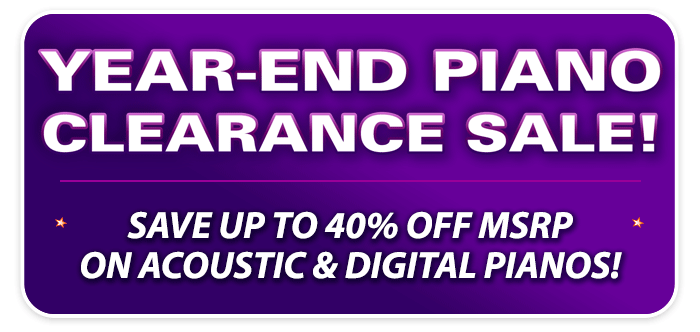 Year-End Piano Clearance Sale at your Schmitt Music stores!