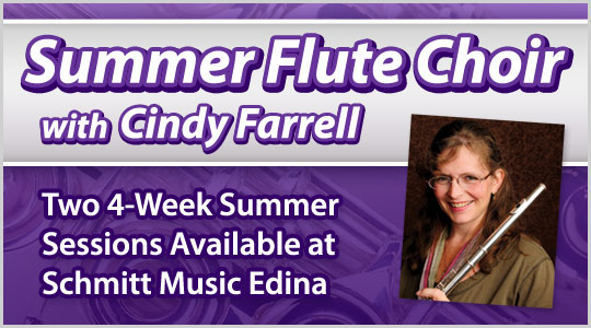 Summer Flute Choir with Cindy Farrell, Flute Workshop sessions at Schmitt Muisc Edina