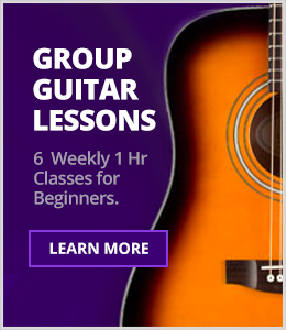 Group Guitar Lessons - 6 Weekly 1 Hour Classes for Beginners