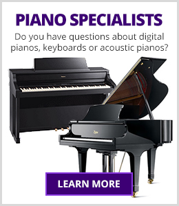 Do you have questions about acoustic pianos, digital pianos, keyboards or player technology systems? Our expert Piano Specialists are here to help you find the right instrument.
