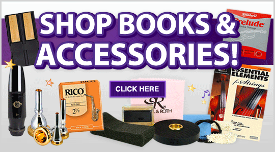 Shop Books and Accessories for School band or orchestra
