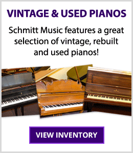 Schmitt Music piano stores feature a great selection of used & consignment pianos – uprights, grands, players and digitals!