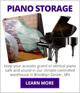 Schmitt Music Piano Storage - Keep your acoustic grand or vertical piano safe and sound in our climate-controlled warehouse in Brooklyn Center, MN