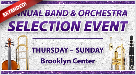 Band and Orchestra Instrument Selection Event EXTENDED!