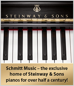 Steinway pianos at Schmitt Music in Edina, Minnesota