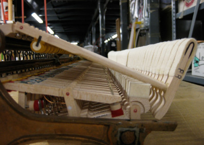 Close up of the new Steinway action parts