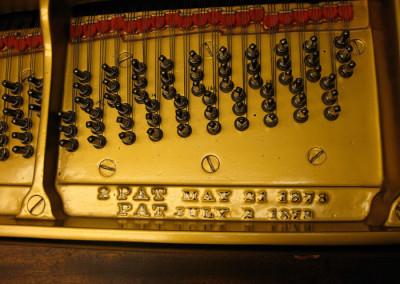 Blued tuning pins