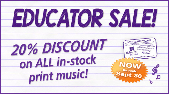 Back to School print music deals