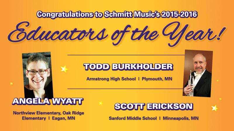 Congratulations to Schmitt Music's Educators of the Year