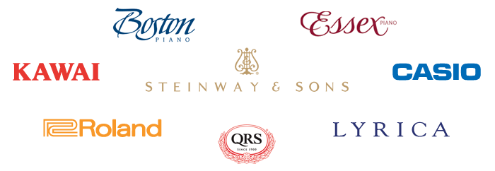 Piano Brands - Boston, Essex, Kawai, Steinway, Casio, Roland, QRS, Lyrica