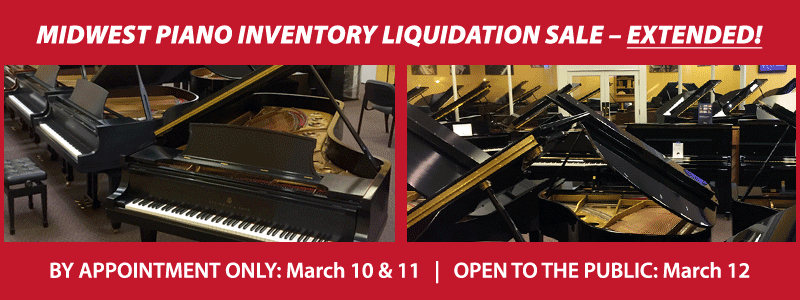 Midwest Piano Inventory Liquidation Sale EXTENDED in KC!