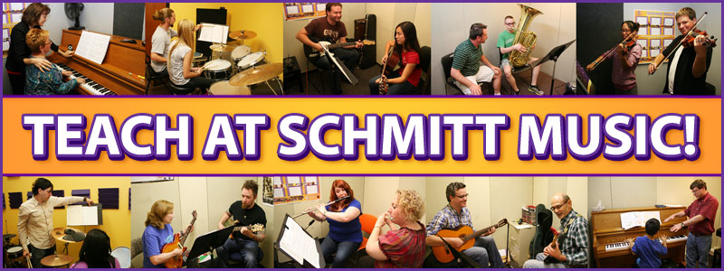Teach Music Lessons at Schmitt Music