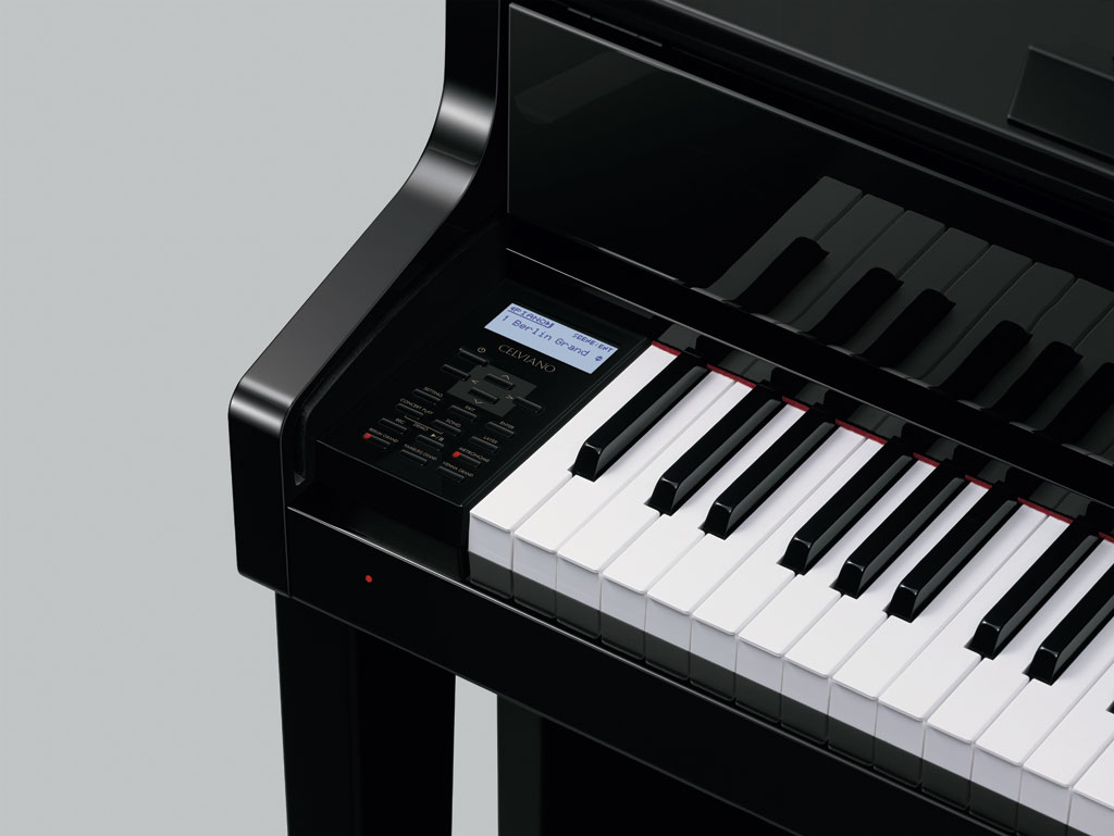 casio grand hybrid pianos  the new celviano gp