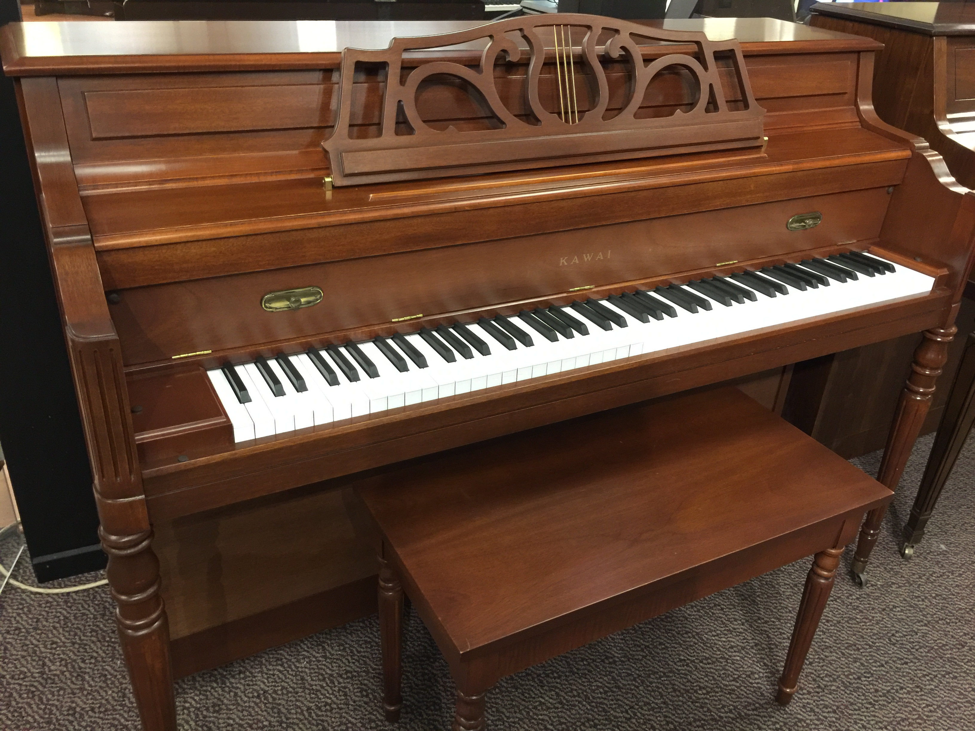 used kawai 1994 traditional mahogany console piano for sale schmitt music. Black Bedroom Furniture Sets. Home Design Ideas