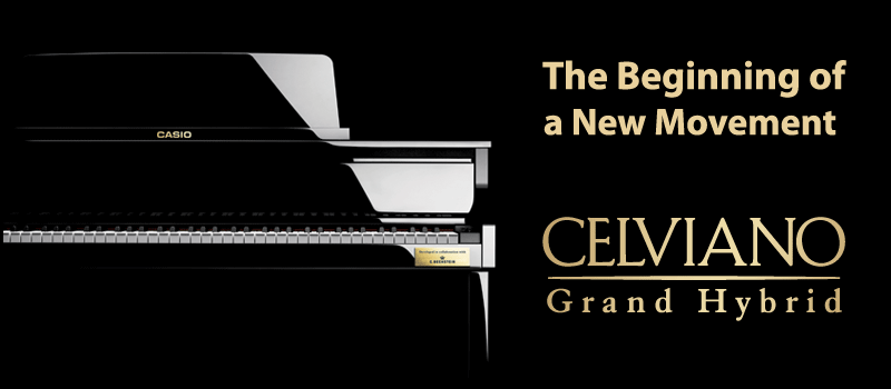 Casio Grand Hybrid Pianos: the new Celviano GP-500!