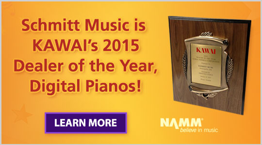 Schmitt Music Is Kawai's 2015 Dealer of the Year, Digital Pianos!