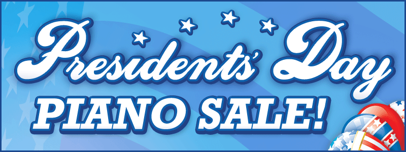 Presidents' Day Piano Sale at Schmitt Music stores