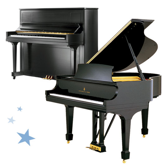 Steinway grand piano model B, Steinway and Sons vertical piano model 1098