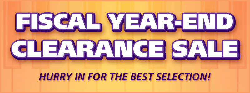 Fiscal Year-End Piano Clearance Sale event at Schmitt Music