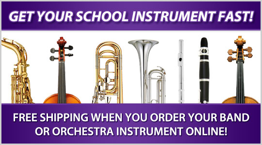 Get your Better Than Rent instrument fast!  Free Shipping when you order your band or orchestra instrument online!