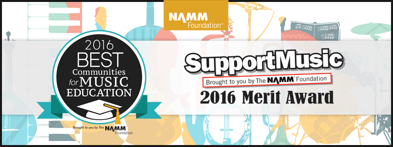 NAMM Foundation Recognizes 2016 Best Communities for Music Education